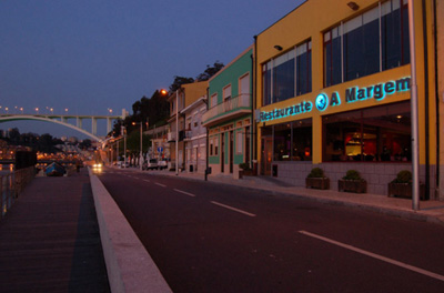 Localização do restaurante. Foto: Site Restaurante A Margem