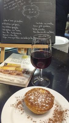 Pastel de nata com vinho do Porto